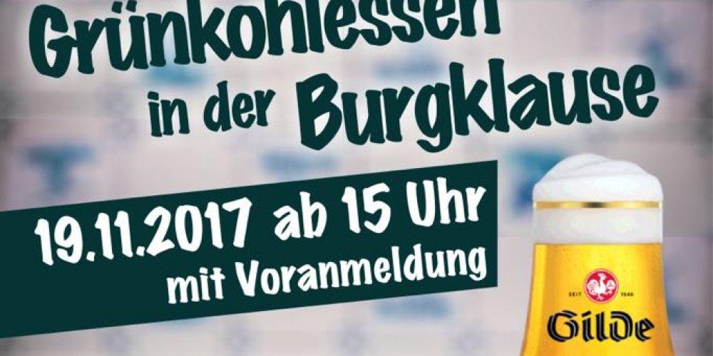 Grünkohlessen in der Burgklause | 19.11.2017