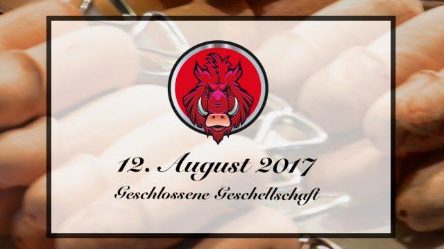 Ankündigung | Geschlossene Veranstaltung | 12.08.2017
