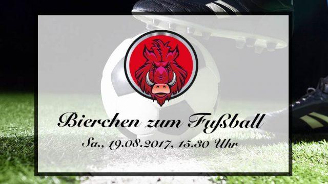 Das Bier danach zum 1. Spieltag am 19.08.2017